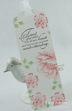 Pretty bookmark using stippled blossoms by Stampin' Up  www.lilybygilly.wordpress.com
