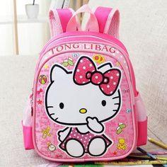 Baby Backpack Child School Bag Cartoon Hello Kitty /Transformers Backpack Kid Kindergarten Schoolbag For Kid Mochila Infantil