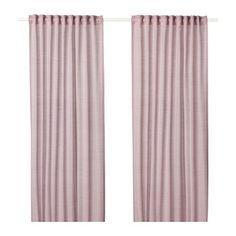 IKEA HILJA curtains, 1 pair The curtains can be used on a curtain rod or a curtain track.