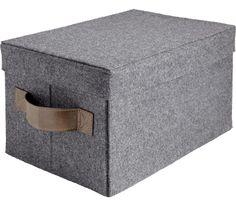 Schicke Aufbewahrungsbox aus Filz un Dunkelgrau- stilvoll und praktisch
