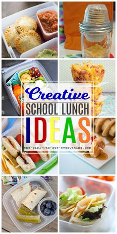 Fun and creative school lunch ideas to keep your kids happy and satisfied. If you want to think outside the lunch box then this collection is for you.