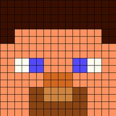 Steve Perler Bead Pattern | Bead Sprites | Characters Fuse Bead Patterns