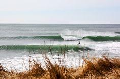 Surfing Lawrencetown Beach, Nova Scotia