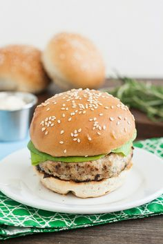 Chicken Burgers with Garlic-Rosemary Mayonnaise by Traceys Culinary Adventures
