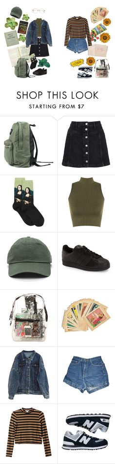 """Stay in Drugs, Don't Do School"" by wonders-of-astra ❤ liked on Polyvore featuring Topshop, HOT SOX, WearAll, adidas, *Accessories Boutique, Hahn, American Apparel, Monki and New Balance"