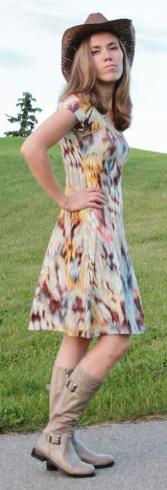 Modest Fashion #summerdress #yycfashion #cowboyhat #stampede2013 #sjstampede #fionaoutfits