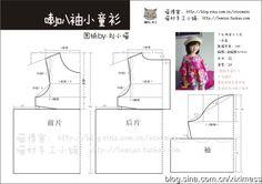 Girl's blouse pattern [转载][刘小喵手工]又是为初秋准备的:喇叭袖小童衫(含教程和图纸)_小宝妈的手工生活