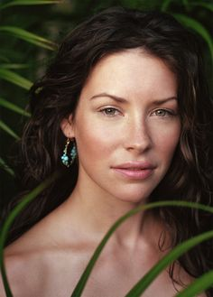 """Evangeline Lilly - I love that this woman looked so grungy for most of the show Lost, & she was still one of the most beautiful people I've ever seen. Freckles, curls out of control, """"no makeup"""" as only Hollywood can do """"no"""" makeup :) She could be Eve in a story of Adam & Eve, & I'd all be proud to be one of her daughters!"""