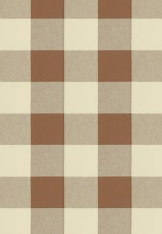 "Checkmate fabric in Acorn by P Kaufman - 4.50"" repeat - brown and cream gingham/check/buffalo plaid fabric"