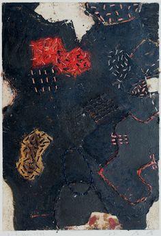 Takahiko Hayashi ~ D-4, 1999 (painting, collage)