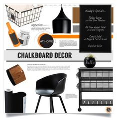 """""""Chalkboard Decor"""" by dedeata ❤ liked on Polyvore featuring interior, interiors, interior design, home, home decor, interior decorating, Crate and Barrel, Cooper Classics, Better Homes and Gardens and HAY"""