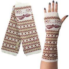 Florida State Seminoles (FSU) Knit Arm Warmers - Cream