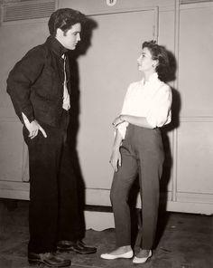 Elvis Presley & Jean Simmons at MGM 1957