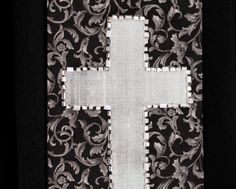 Clergy Stole Rejoice 44 Pastor Stole Minister Stole by Shadrachs on Etsy. Silk cross with beaded border. https://www.etsy.com/listing/207746007/clergy-stole-rejoice-44-pastor-stole?ref=shop_home_active_24