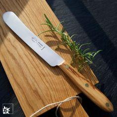 OTTER Streichmesser mit Olivenholzgriff und rostfreier Klinge.