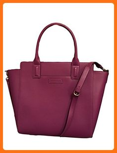 26304d37f5 Vera Bradley Large Handbag Tote in Plum Faux Leather Collection LIMITED  EDITION - Totes (
