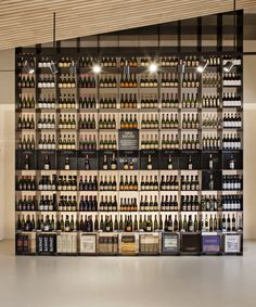 Llopart is a family company of Sant Sadurní dedicated to the production of wine and cava since Its location is privileged because crown a mountain fro. Wine Shop Interior, Shop Interior Design, Retail Design, Wine And Liquor, Liquor Store, Wine And Beer, Bottle Display, Wine Display, Brewery Design