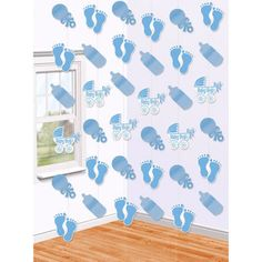 New Baby Boy Blue Christening Baby Shower Hanging String Party Decoration Baby Shower Azul, Deco Baby Shower, Boy Baby Shower Themes, Baby Shower Balloons, Baby Boy Shower, Baby Boy Decorations, Honeycomb Decorations, Decoration Table, Moldes Para Baby Shower