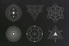 24 Sacred Geometry Vectors by Tugcu Design Co. on @creativemarket
