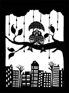 Shelter Each Other - paper cutting
