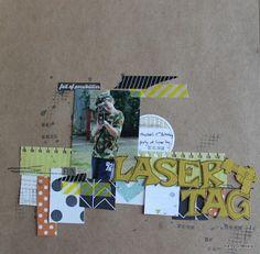 A2Z Scraplets: Best friends since Kindergarten #chipboard #scrapbooking #layout…
