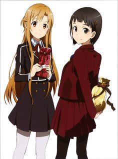 Sword Art Online, Suguha & Asuna