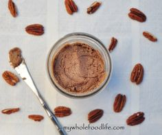 Homemade Pecan Butter.  So delish and a great alternative to traditional nut butters.