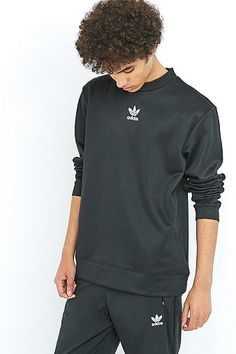adidas The Brand with the 3-Stripes Black Crewneck Sweatshirt
