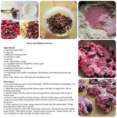 Recipe Card for Berry and Hibiscus Scones