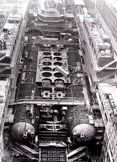 Typhoon class submarine Dmitriy Donskoy under construction.