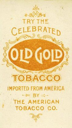 Cigarette Card Back - Old Gold Tobacco