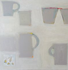Still life neutral minimalist acrylic on canvas painting pouke halpern Be Still, Still Life, Paint Strokes, Mark Making, Food Art, Art Lessons, Neutral, Minimalist, Abstract