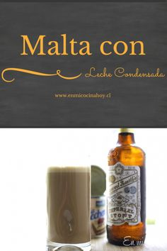 La malta con leche es un trago muy común para tomar antes de almuerzo durante el verano sobretodo. Un clásico chileno.