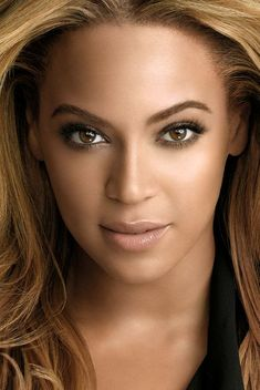 Beyonce natural look for make-up - This is one of my favorites! Beyonce Makeup, Glam Makeup, Beauty Makeup, Eye Makeup, Hair Makeup, Hair Beauty, Beyonce Eyes, Beautiful Eyes, Most Beautiful Women