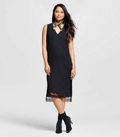 Who What Wear Lace Trim Tank Dress