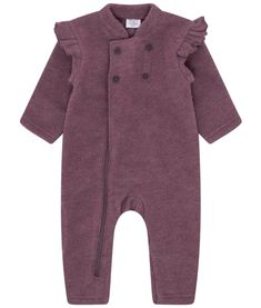 facb6184 Superfin og praktisk dress i ullfleece med søte rysjer fra Hust&Claire.  Laget av 100%