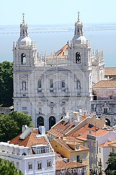 Lisbon church in old town