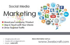 #‎SocialMediaMarketing‬ is the process of reaching prospects and customers, and acquiring traffic and visibility through social media sites. https://twitter.com/3webcraft