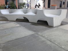 Panchine in cemento lavorato