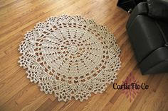 Large Lace Doily Rug Crochet by CarlieFloCo on Etsy, $145.00
