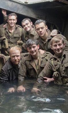 Harry on set of Dunkirk