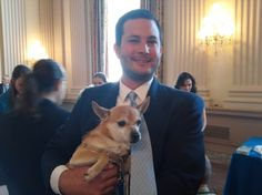 "Barry Londeree, animal welfare legislative assistant to Rep. James P. Moran, D-Va. — who, as co-chairman of the Congressional Animal Protection Caucus has helped organize the various ""Paws"" shindigs — met his new bestie, Bunker, toward the end of last summer's meet-and-greet."