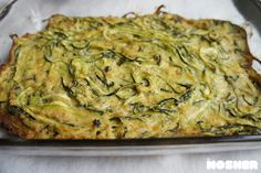 Springtime Zucchini Kugel - no noodles and if you sub out the matzo meal for coconut, almond oreven  brown rice flour, you could make this gluten free