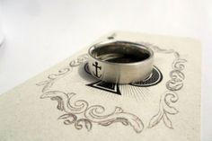 Gents Sterling Silver Band with Anchor Cut-out by Kallie on hellopretty.co.za