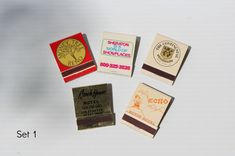 VINTAGE HOTEL MATCHBOOKS, Vintage match book,Front strike matchbook, back strike matchbook,motel souvenir matchbook,vintage collectible