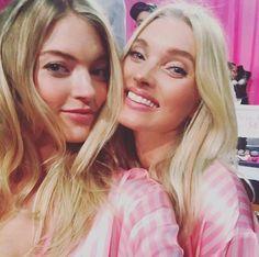 Werft einen Blick hinter die Kulissen der Victoria's Secret Fashion Show   Martha Hunt und Elsa Hosk