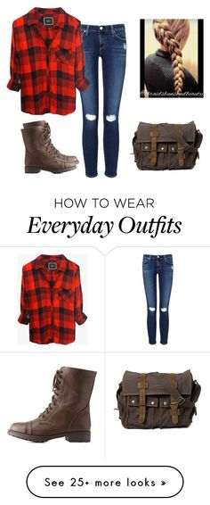 """""""Everyday Outfit"""" by amylightwood on Polyvore featuring AG Adriano Goldschmied, Rails and Charlotte Russe"""