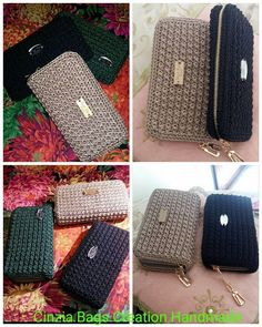 Janja croche Crochet Wallet, Crochet Backpack, Backpack Pattern, Wallet Pattern, Crochet Purse Patterns, Crochet Shoes, Crochet Yarn, Crochet Stitches, Crochet Handbags