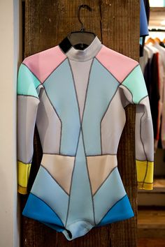 Cynthia Rowley womens wetsuit Photo: Donna Alberico for The New York Times. We love her wetsuits for women! New York Times, Surf Style, My Style, Le Grand Bleu, Pullover Shirt, Womens Wetsuit, Surf Wear, Surf Outfit, Lingerie