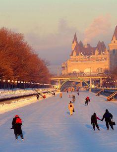The Rideau Canal, Canada